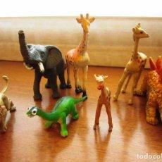 Figuras de Goma y PVC: LOTE DE FIGURAS PVC DE ANIMALES Y DINOSAURIOS.. Lote 68610345
