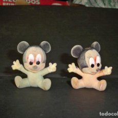Figuras de Goma y PVC: FIGURAS RATON MICKEY ANTIGUAS FORRADAS TERCIOPELO O SIMILAR. Lote 68735669
