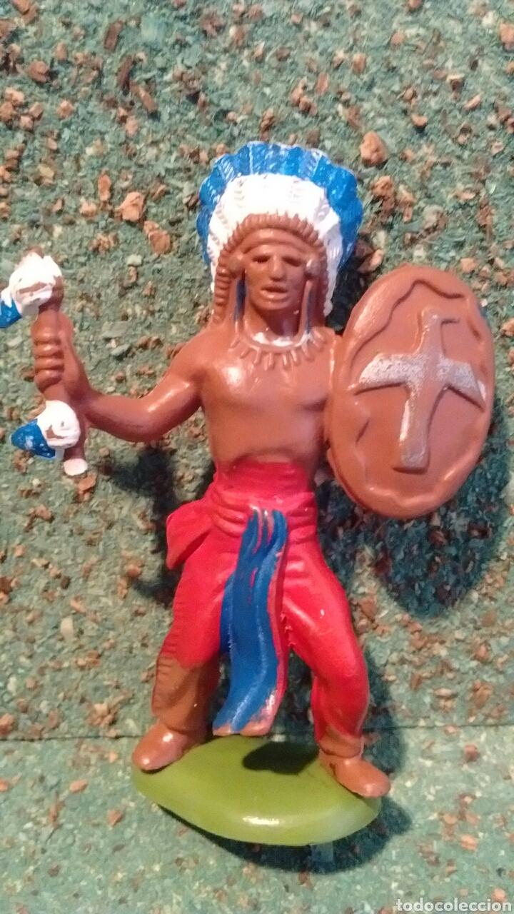 Figuras de Goma y PVC: Antigua Figura de Indio en plástico. Britains Ltd. 65 mm. - Foto 2 - 68839486