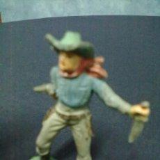 Figuras de Goma y PVC: VAQUERO REVOLVER CUCHILLO. Lote 68840961