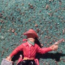 Figure di Gomma e PVC: ANTIGUA FIGURA DEL OESTE EN PLÁSTICO. LADRÓN DE BANCOS. MADE IN ENGLAND. 60 MM.. Lote 68860911