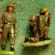 Figuras de Borracha e PVC: FIGURAS DE SOLDADOS BRITÁNICOS WWII. BRITAINS LTD. PLÁSTICO.. Lote 68888187
