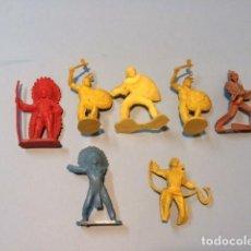 Figuras de Goma y PVC: COMANSI : INDIOS Y VAQUEROS. Lote 68900713