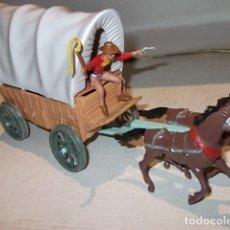 Figuras de Goma y PVC: CARRETA CARAVANA CREO DE COMANSI COMO NUEVA ,BARATA. Lote 68947705