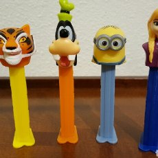 Dispensador Pez: LOTE 4 DISPENSADORES CARAMELOS PEZ. Lote 69290705