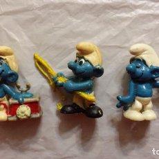 Figuras de Goma y PVC: LOTE DE 3 FIGURAS PITUFOS. Lote 89707404