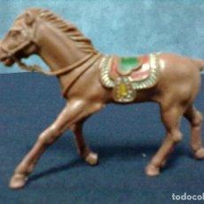Figuras de Goma y PVC: MONTURA CABALLO MARRON SIN RABO. Lote 69388665