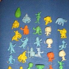 Figuras de Goma y PVC: LOTE CON 28 FIGURAS DUNKIN VARIADAS - 1 PITUFO - ASTERIX - CABEZONES - WARNER ETC.. Lote 69400217