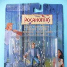 Figuras de Goma y PVC: POCAHONTAS JOHN SMITH FIGURA DE PVC NUEVA EN BLISTER DISNEY MATTEL 1994. Lote 69454713
