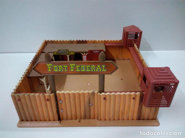 FORT FEDERAL . COMANSI . REALIZADO EN MADERA Y PLASTICO (Juguetes - Figuras de Goma y Pvc - Comansi y Novolinea)