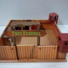 Figuras de Goma y PVC: FORT FEDERAL . COMANSI . REALIZADO EN MADERA Y PLASTICO. Lote 69618261