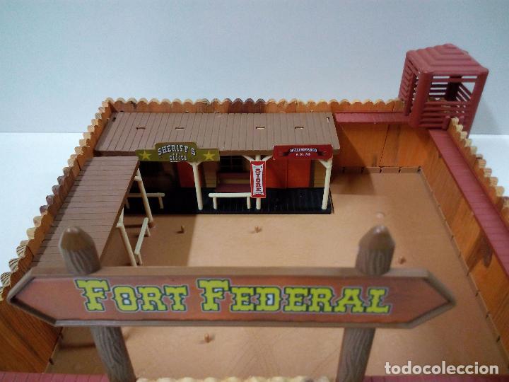 Figuras de Goma y PVC: FORT FEDERAL . COMANSI . REALIZADO EN MADERA Y PLASTICO - Foto 3 - 69618261