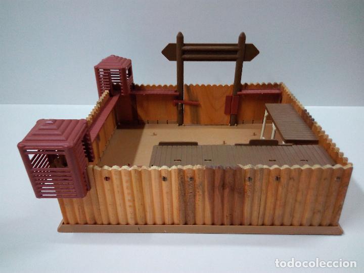 Figuras de Goma y PVC: FORT FEDERAL . COMANSI . REALIZADO EN MADERA Y PLASTICO - Foto 5 - 69618261