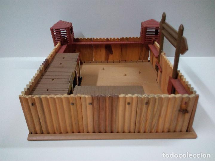 Figuras de Goma y PVC: FORT FEDERAL . COMANSI . REALIZADO EN MADERA Y PLASTICO - Foto 6 - 69618261