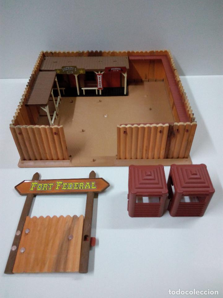 Figuras de Goma y PVC: FORT FEDERAL . COMANSI . REALIZADO EN MADERA Y PLASTICO - Foto 11 - 69618261