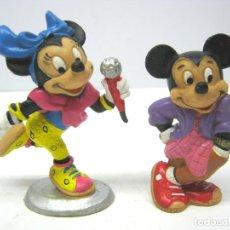 Figuras de Goma y PVC: MICKEY Y MINNIE - FIGURAS GOMA 1987 BULLY WEST GERMANY - WALT DISNEY COMPANY. Lote 69877145