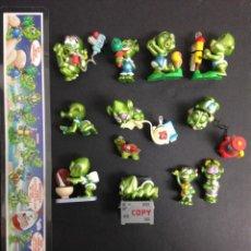 Figuras Kinder: KINDER EXTRATERRESTRES,STRALUNATI, COLECCION COMPLETA. Lote 70018101