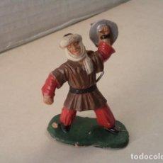 Figuras de Goma y PVC: FIGURA DE PLÁSTICO GUERRERO MORO SERIE CID CAMPEADOR REAMSA. Lote 70100665