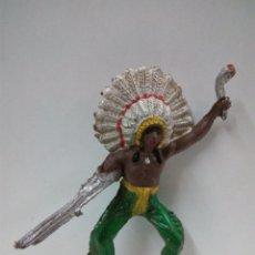 Figuras de Goma y PVC: JEFE INDIO PARA CABALLO . Lote 70200077