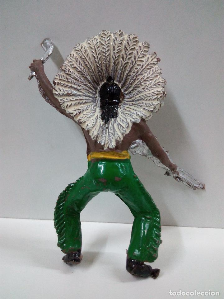 Figuras de Goma y PVC: JEFE INDIO PARA CABALLO - Foto 2 - 70200077