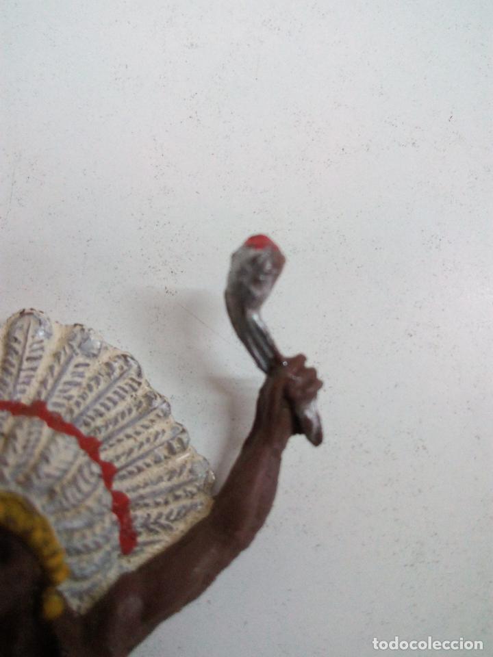 Figuras de Goma y PVC: JEFE INDIO PARA CABALLO - Foto 3 - 70200077