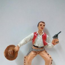 Figuras de Goma y PVC: VAQUERO - COWBOY PARA CABALLO . COMANSI . PRIMERA EPOCA. Lote 70200673