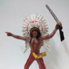 Figuras de Goma y PVC: JEFE INDIO . COMANSI . Lote 70201205