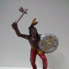 Figuras de Goma y PVC: GUERRERO INDIO . COMANSI . PRIMERA EPOCA. Lote 70202089