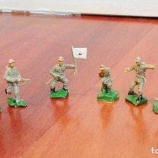 Figuras de Goma y PVC: 8 SOLDADOS JAPONESES II GUERRA MUNDIAL DE LA MARCA EKO AÑOS 60. Lote 146202993