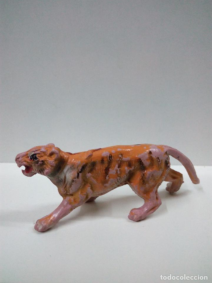 Figuras de Goma y PVC: TIGRE . SERIE FIERAS . PECH . AÑOS 50 EN GOMA - Foto 2 - 70477213