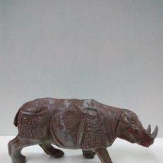 Figuras de Goma y PVC: RINOCERONTE . SERIE FIERAS . PECH . AÑOS 50 EN GOMA. Lote 70479385