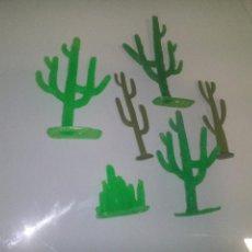Figuras de Goma y PVC: LOTE CACTUS PARA INDIOS Y VAQUEROS COMANSI. Lote 70556105