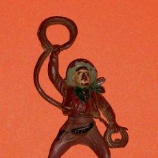 Figuras de Goma y PVC: VAQUERO COWBOY OESTE, FABRICADO EN GOMA, GAMA ESPAÑA, AÑOS 50.. Lote 70995335