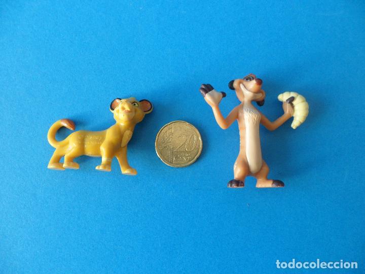 Figuras de Goma y PVC: Lote personajes de El Rey León - Disney - Timón y Simba - Nestlé - Foto 6 - 71028189