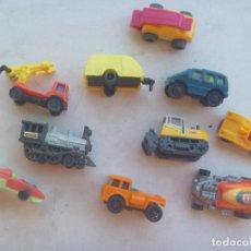 Figuras Kinder: LOTE DE 10 FIGURAS DE KINDER : VEHICULOS : COCHES, CAMIONES, ETC. Lote 71100929