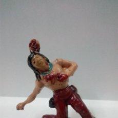 Figuras de Goma y PVC: GUERRERO INDIO HERIDO . FIGURA REAMSA Nº 56. Lote 71187517