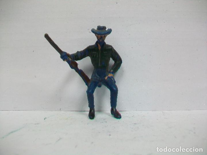 Figuras de Goma y PVC: FIGURA GUIA DE CARAVANA PECH HERMANOS - VAQUERO CARRETA DE HERMANOS PECH - Foto 2 - 71223185