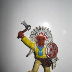 Figuras de Goma y PVC: JEFE INDIO DE COMANSI. Lote 71242479