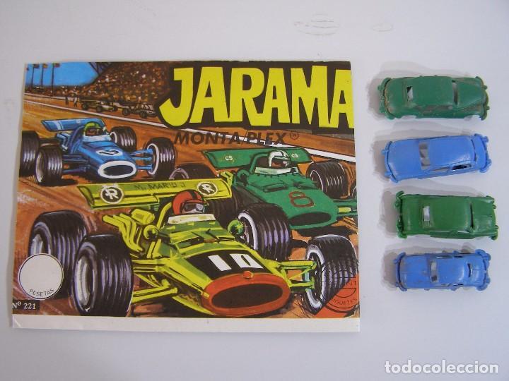 SOBRE JARAMA MONTAPLEX, AÑOS 70. (Juguetes - Figuras de Goma y Pvc - Montaplex)