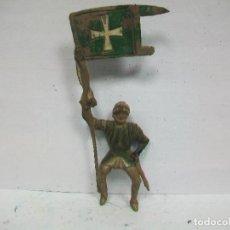 Figuras de Goma y PVC: FIGURA MEDIEVAL ABANDERADO REAMSA GOMA - ESTANDARTE DE REAMSA AÑOS 50. Lote 71504167