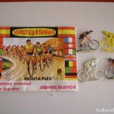 Figuras de Goma y PVC: SOBRE MONTAPLEX ORIGINAL AÑOS 70 LA VUELTA CICLISTA.. Lote 137559396