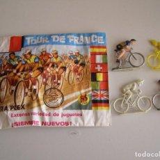 Figuras de Goma y PVC: SOBRE MONTAPLEX ORIGINAL AÑOS 70 TOUR DE FRANCIA.. Lote 137559264