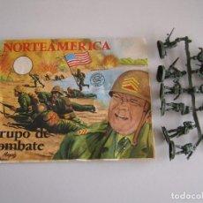 Figuras de Goma y PVC: SOBRE MONTAPLEX ORIGINAL AÑOS 70 GRUPO DE COMBATE NORTEAMERICA.. Lote 79031423
