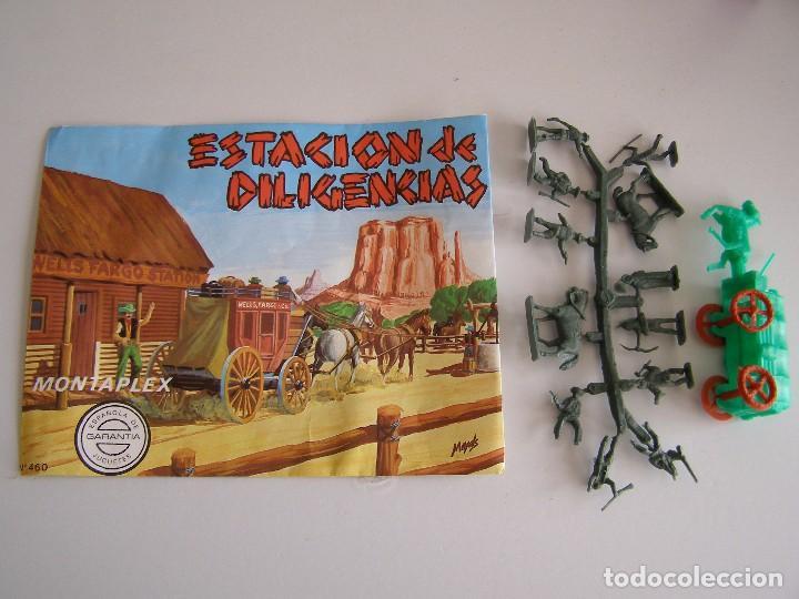 SOBRE MONTAPLEX ORIGINAL AÑOS 70 ESTACION DE DILIGENCIAS (Juguetes - Figuras de Goma y Pvc - Montaplex)