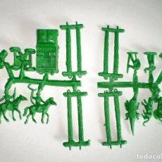 Figuras de Goma y PVC: MONTAPLEX - CURIOSA COLADA SAFARI - ANIMALES JEEP Y VAQUEROS - SERJAN - KIOSKO AÑOS 70´S. Lote 135942447