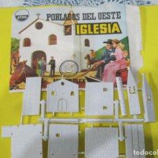 Figuras de Goma y PVC: MONTAPLEX-POBLADOS DEL OESTE-IGLESIA-Nº 457-SERIE 400-SOBRE ABIERTO-. Lote 72069835