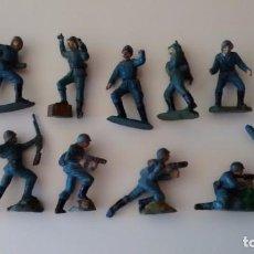 Conjunto soldados alemanes de goma Pech