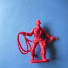 Figuras de Goma y PVC: VAQUERO CON LAZO 54MM. Lote 72166539