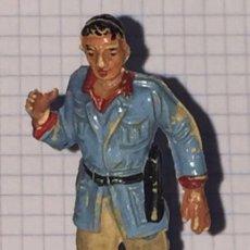 Figuras de Goma y PVC: ANTIGUA FIGURA SAFARI AFRICA SALVAJE, CAZADOR EXPLORADOR FABRICADO EN GOMA POR JECSAN, AÑOS 50. PIER. Lote 72192851