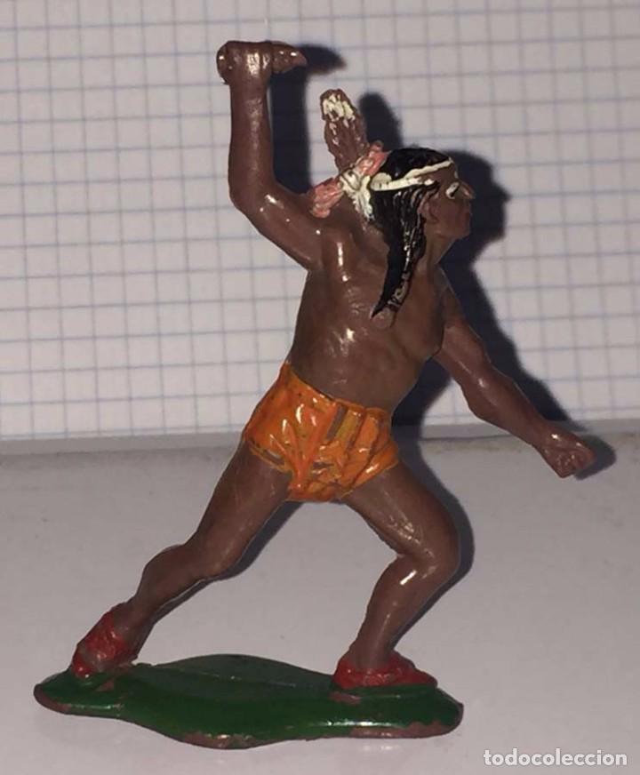 FIGURA INDIO TEIXIDO, REALIZADO EN GOMA, AÑOS 50, MIDE 6,5 CMS. (Juguetes - Figuras de Goma y Pvc - Teixido)